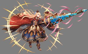 Rating: Safe Score: 43 Tags: armor blonde_hair blue_eyes braids cape crown dress long_hair magic mireille_(sennen_sensou_aigis) sennen_sensou_aigis spear tagme_(artist) transparent weapon User: otaku_emmy