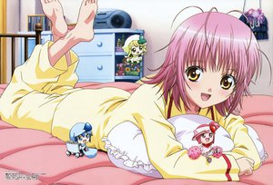 Rating: Safe Score: 23 Tags: bed hinamori_amu miki_(shugo_chara) pajamas peach-pit pink_hair ran_(shugo_chara) shugo_chara suu_(shugo_chara) yellow_eyes User: 秀悟