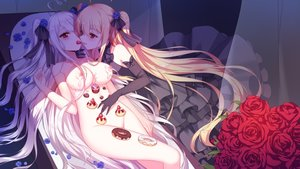 Rating: Questionable Score: 350 Tags: 2girls blonde_hair breasts cake dress elbow_gloves flowers food fruit gloves goth-loli lolita_fashion long_hair niliu_chahui nipples nude original red_eyes rose strawberry tagme_(artist) tokisaki_asaba tokisaki_mio twintails white_hair yuri User: Fepple