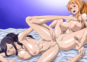 Rating: Explicit Score: 241 Tags: censored nami nel-zel_formula nico_robin one_piece tribadism wet yuri User: Freenight
