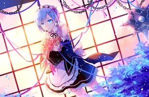 Rating: Safe Score: 119 Tags: aqua_eyes aqua_hair dress flowers headdress maid rem_(re:zero) re:zero_kara_hajimeru_isekai_seikatsu ribbons short_hair yetworldview_kaze User: RyuZU