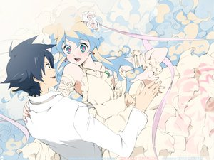 Rating: Safe Score: 40 Tags: nia_teppelin simon tengen_toppa_gurren_lagann wedding wedding_attire User: Xtea