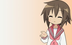 Rating: Safe Score: 10 Tags: brown_hair gradient kusakabe_misao lucky_star school_uniform short_hair vector User: RyuZU