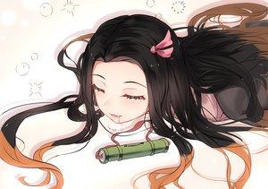 Rating: Safe Score: 79 Tags: 5555_96 black_hair fang gradient japanese_clothes kamado_nezuko kimetsu_no_yaiba long_hair User: RyuZU