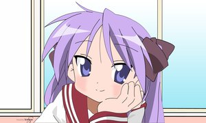 Rating: Safe Score: 58 Tags: blue_eyes close hiiragi_kagami long_hair lucky_star purple_hair school_uniform signed vector User: BoobMaster