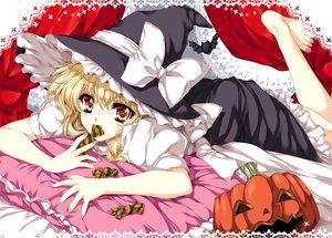 Rating: Safe Score: 65 Tags: animal barefoot bat candy halloween kirisame_marisa pumpkin tagme tamiya_akito touhou witch User: opai