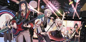 Rating: Safe Score: 20 Tags: aoandon demon drums fireworks group guitar instrument male mia0309 microphone onmyouji piano tagme_(character) User: otaku_emmy