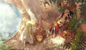 Rating: Safe Score: 45 Tags: aliasing all_male animal apple barefoot couch enkidu fate/grand_order fate_(series) food fruit gilgamesh lion long_hair male short_hair thkani water User: BattlequeenYume