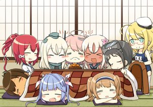 Rating: Safe Score: 18 Tags: anthropomorphism black_hair blonde_hair blue_hair blush brown_hair chibi dark_skin engiyoshi fang food fruit glasses goggles green_eyes group hat headband i-168_(kancolle) i-19_(kancolle) i-26_(kancolle) i-401_(kancolle) i-58_(kancolle) i-8_(kancolle) kantai_collection kotatsu long_hair maru-yu_(kancolle) orange_(fruit) pink_hair ponytail red_hair ro-500_(kancolle) school_swimsuit school_uniform sleeping swimsuit thighhighs twintails u-511_(kancolle) User: otaku_emmy