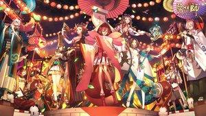 Rating: Safe Score: 43 Tags: animal animal_ears ayatoki-1 bicolored_eyes bird breasts brown_hair demon fan festival gloves group hat instrument japanese_clothes kachou_fuugetsu_(onmyouji) long_hair male mask minamoto_no_hiromasa_(onmyouji) momo_no_sei_(onmyouji) necklace night onmyouji ootengu_(onmyouji) petals pointed_ears ponytail red_eyes ryoumenbotoke_(onmyouji) sanbi_no_kitsune_(onmyouji) short_hair stars tattoo umbrella white_hair wings wristwear yaobikuni_(omnyouji) yasha_(onmyouji) yellow_eyes youko_(onmyouji) youtouhime_(omnyouji) User: RyuZU