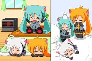 Rating: Safe Score: 39 Tags: akita_neru animal_ears catgirl chibi hatsune_miku suzunonaruki tagme tail vocaloid yowane_haku User: gameaddict1