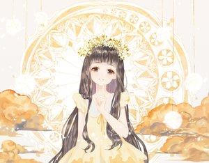 Rating: Safe Score: 95 Tags: black_hair blue_eyes card_captor_sakura daidouji_tomoyo dress headdress lolita_fashion long_hair polychromatic say_hana User: otaku_emmy