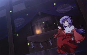 Rating: Safe Score: 62 Tags: hanyuu higurashi_no_naku_koro_ni horns japanese_clothes long_hair night purple_eyes purple_hair sakai_kyuuta scan User: Katsumi