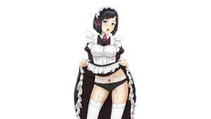Rating: Questionable Score: 160 Tags: cameltoe densuke_(iha-syuon) garter_belt kujou_miyuki maid ore_ga_ojou-sama_gakkou_ni_ panties short_hair skirt_lift underwear User: gnarf1975