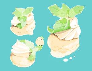 Rating: Safe Score: 15 Tags: animal bird chai_(artist) cyan food ice_cream leaves nobody original signed User: otaku_emmy