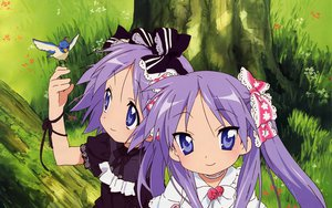 Rating: Safe Score: 27 Tags: animal bird hiiragi_kagami hiiragi_tsukasa lucky_star purple_hair twins User: 秀悟