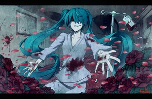 Rating: Questionable Score: 65 Tags: blood hatsune_miku twintails vocaloid User: BoobMaster