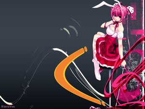 Rating: Safe Score: 17 Tags: bunnygirl di_gi_charat sword usada_hikaru weapon User: Oyashiro-sama