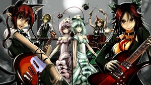 Rating: Safe Score: 62 Tags: animal_ears blonde_hair bow braids catgirl choker dress drums flowers green_eyes green_hair group guitar hat hoshiguma_yuugi instrument jpeg_artifacts kaenbyou_rin kisume komeiji_koishi komeiji_satori kouji_oota long_hair microphone mizuhashi_parsee multiple_tails pink_hair pointed_ears ponytail red_eyes red_hair reiuji_utsuho short_hair suit tail tie touhou wink User: STORM