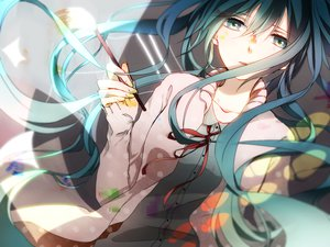 Rating: Safe Score: 149 Tags: aqua_eyes aqua_hair hatsune_miku long_hair tagme vocaloid User: opai