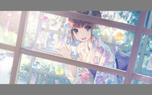 Rating: Safe Score: 15 Tags: blue_eyes brown_hair japanese_clothes kimono original short_hair tagme_(artist) User: luckyluna