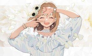Rating: Safe Score: 76 Tags: brown_hair choker close flowers original petals short_hair wristwear yuu_(higashi_no_penguin) User: otaku_emmy