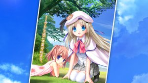 Rating: Safe Score: 47 Tags: 2girls arizuki_shiina grass hat key kud_wafter little_busters! na-ga noumi_kudryavka seifuku thighhighs User: Wiresetc