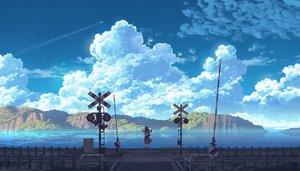 Rating: Safe Score: 18 Tags: aircraft black_hair clouds long_hair original scenic seifuku sennotane skirt sky water User: RyuZU