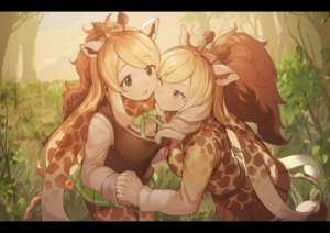 Rating: Safe Score: 73 Tags: 2girls animal_ears anthropomorphism blonde_hair bow brown_eyes cape_giraffe_(kemono_friends) kemono_friends koruse long_hair pantyhose ponytail rothschild's_giraffe_(kemono_friends) scarf seifuku skirt tail wink User: RyuZU