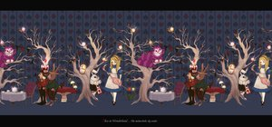 Rating: Safe Score: 38 Tags: alice_in_wonderland alice_(wonderland) cheshire_cat chibi drink group march_hare queen_of_hearts tree white_rabbit User: Katsumi