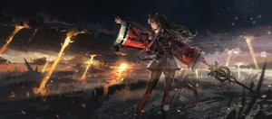 Rating: Safe Score: 129 Tags: animal_ears arknights catgirl clouds grass kvpk5428 pantyhose skyfire_(arknights) spear tail weapon User: Dreista