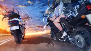 Rating: Safe Score: 33 Tags: clouds front_wing game_cg grisaia:_phantom_trigger group long_hair motorcycle seifuku skirt sky sunset tagme_(character) watanabe_akio User: RyuZU