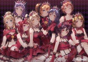 Rating: Safe Score: 193 Tags: ayase_eri choker crown garter garter_belt gloves group horns hoshizora_rin koizumi_hanayo kousaka_honoka love_live!_school_idol_project lucia_(biblyoteka) minami_kotori necklace nishikino_maki sonoda_umi stockings toujou_nozomi yazawa_nico User: FormX