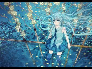 Rating: Safe Score: 50 Tags: flowers hatsune_miku petals ranpak rose vocaloid water User: MissBMoon