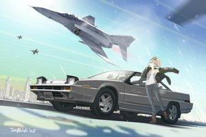 Rating: Safe Score: 22 Tags: brown_hair car combat_vehicle jetbrick original short_hair signed User: RyuZU