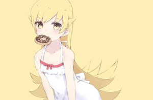Rating: Safe Score: 43 Tags: bakemonogatari blonde_hair dress loli long_hair monogatari_(series) oshino_shinobu summer_dress tr_(hareru) yellow yellow_eyes User: FormX