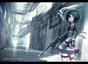Rating: Safe Score: 35 Tags: black_hair blue_eyes gia gun original signed smoking weapon User: boomshadow