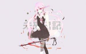 Rating: Safe Score: 188 Tags: blood dress gasai_yuno katana long_hair mirai_nikki pink_eyes pink_hair sword thighhighs twintails weapon User: LiGhTXIII