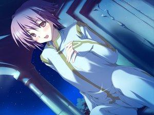 Rating: Safe Score: 25 Tags: blush favorite game_cg happy_margaret! kokonoka night purple_eyes purple_hair tsuwabuki_akira User: 秀悟