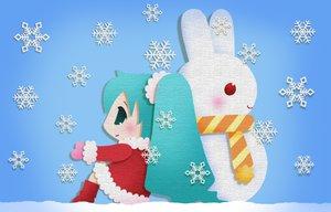 Rating: Safe Score: 47 Tags: chibi christmas hatsune_miku snow vocaloid User: HawthorneKitty