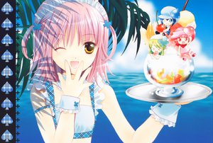 Rating: Questionable Score: 15 Tags: hinamori_amu miki_(shugo_chara) peach-pit pink_hair ran_(shugo_chara) shugo_chara suu_(shugo_chara) yellow_eyes User: 秀悟