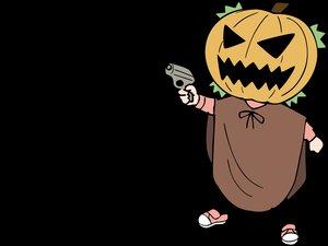 Rating: Safe Score: 21 Tags: cosplay gun halloween koiwai_yotsuba pumpkin transparent weapon yotsubato! User: Oyashiro-sama