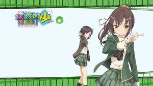 Rating: Safe Score: 76 Tags: 2girls boku_wa_tomodachi_ga_sukunai glasses mikazuki_yozora school_uniform shiguma_rika skirt watanabe_yoshihiro User: Wiresetc