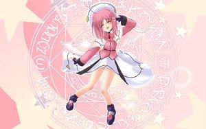 Rating: Safe Score: 29 Tags: blush caro_ru_lushe dress gloves hat magic mahou_shoujo_lyrical_nanoha mahou_shoujo_lyrical_nanoha_strikers pink pink_hair socks User: Oyashiro-sama
