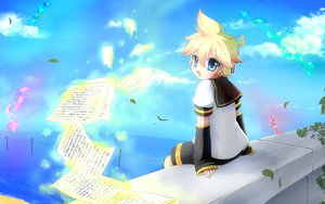 Rating: Safe Score: 13 Tags: all_male clouds kagamine_len male paper sky vocaloid User: HawthorneKitty