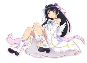 Rating: Safe Score: 104 Tags: dress flat_chest gokou_ruri gottsu long_hair ore_no_imouto_ga_konna_ni_kawaii_wake_ga_nai white User: yamamoto48