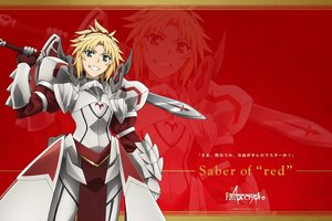 Rating: Safe Score: 13 Tags: fate/apocrypha fate_(series) mordred saber sword tagme_(artist) weapon zoom_layer User: RyuZU