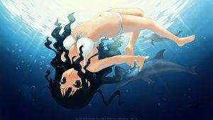Rating: Safe Score: 82 Tags: animal barefoot bikini black_eyes black_hair dolphin kantoku long_hair swimsuit underwater water User: Maboroshi
