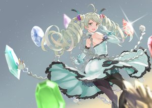 Rating: Safe Score: 65 Tags: de_la_fille dress elbow_gloves gloves granblue_fantasy gray_eyes gray_hair long_hair tagme_(artist) twintails User: BattlequeenYume