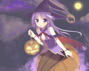 Rating: Safe Score: 95 Tags: all_male halloween happiness male moon panties pantyhose purple_eyes purple_hair trap underwear watarase_jun witch User: FoliFF